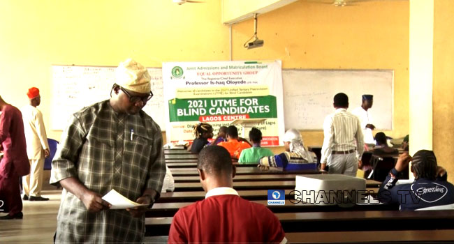 335 Visually Impaired Candidates Participate In 2021 UTME
