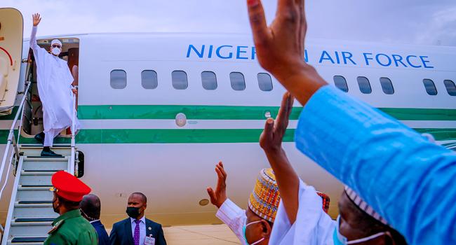 President Buhari Returns To Abuja From Daura