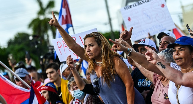 US Sanctions Cuba For Repressing Protests, Biden Warns More To Come