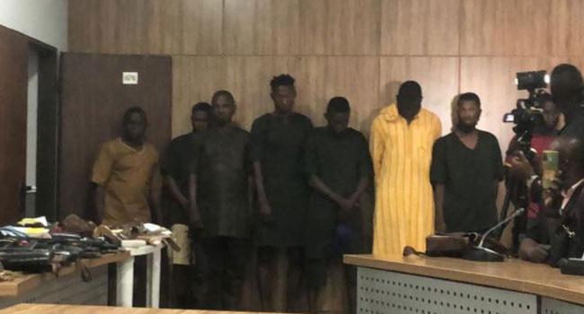 PHOTOS: DSS Confirms Raid On Igboho's House, Parades 13 Suspected Armed Yoruba Nation Agitators