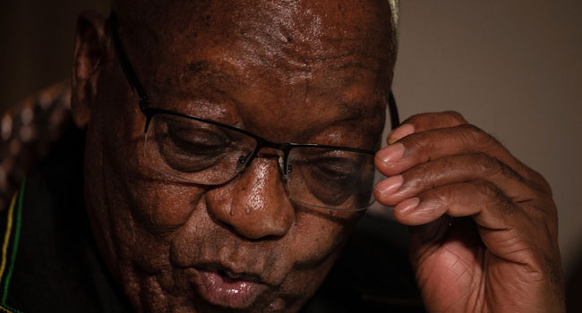 South Africa's President, Zuma Surrenders To Authorities