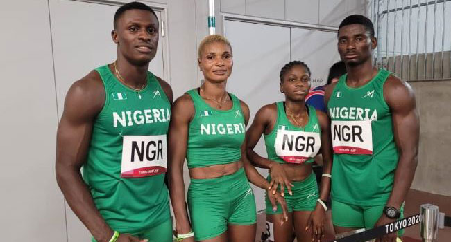 Nigeria's Mixed 4x400m Team Excited By African Record Set At Olympics Debut In Tokyo