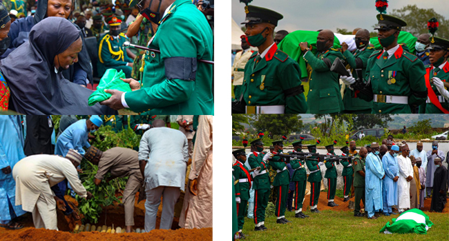 [PHOTOS] Major General Hussein Ahmed Laid To Rest