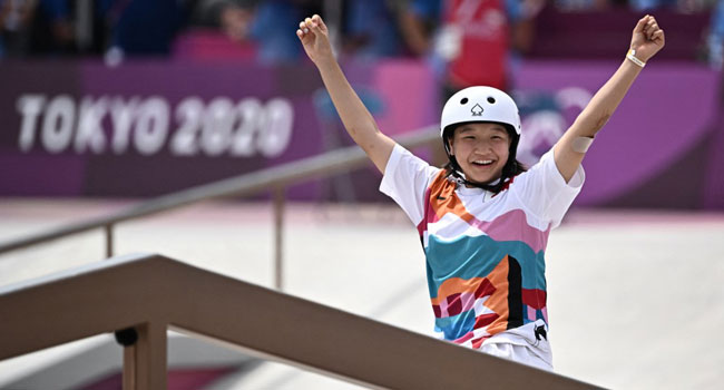 Japan's Nishiya, 13, Becomes One Of Youngest Gold Medal Winners In Olympic History