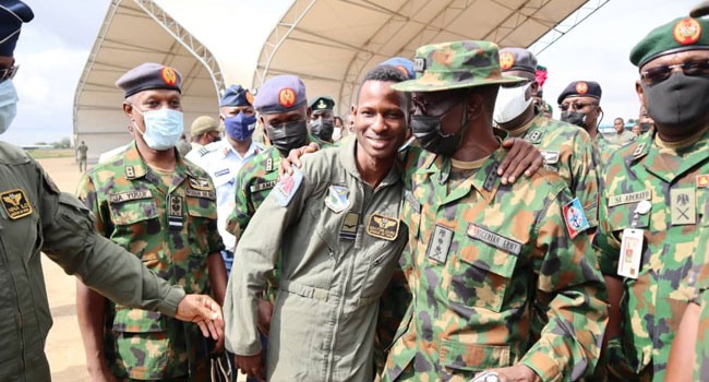 'I Felt Much Relieved': Buhari Praises Air Force Pilot For Gallantry