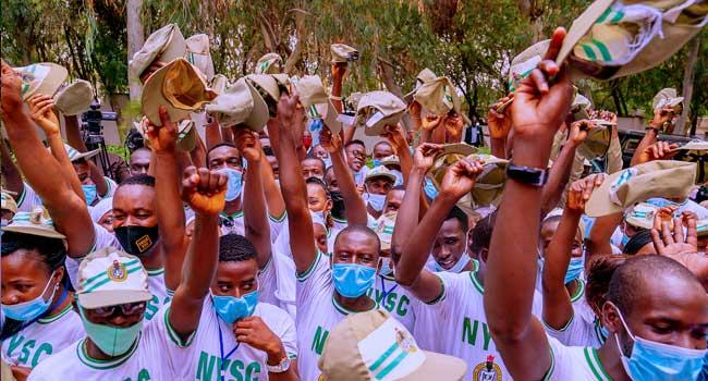 Buhari Gifts Katsina Corps Members Two Cows, 20 Bags Of Rice, N1m