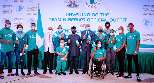 PICTORIAL: You Stand On The Shoulders Of Giants, Osinbajo Tells Nigeria's Olympic Team