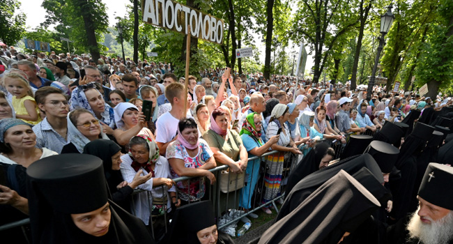 Thousands March In Support Of Ukraine's Russia-Backed Church