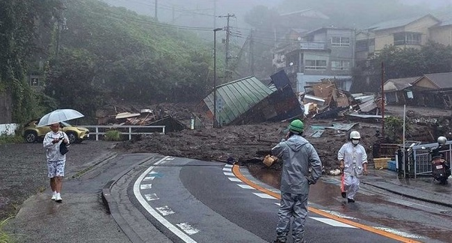 Two Bodies Found After Japan Landslide Sweeps Away Homes