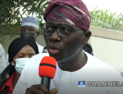 Lagos State Governor Babajide Sanwo-Olu addressed reporters after casting his vote in the Lagos local government elections on July 24, 2021