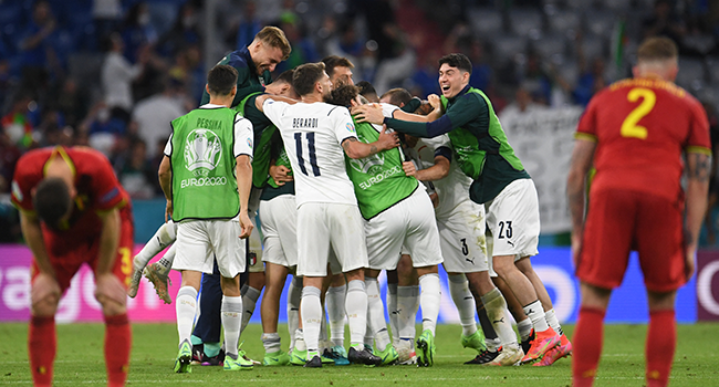 Italy Beat Belgium To Set Up Euro 2020 Semi-Final Against Spain