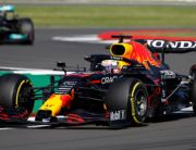 Red Bull's Dutch driver Max Verstappen drives during the sprint session of the Formula One British Grand Prix at Silverstone motor racing circuit in Silverstone, central England on July 17, 2021. Adrian DENNIS / AFP