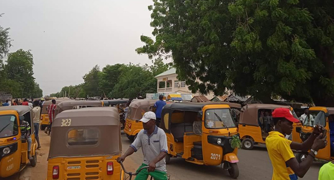 Yobe Tricycle Operators Protest Over Unlawful Arrest Of Members