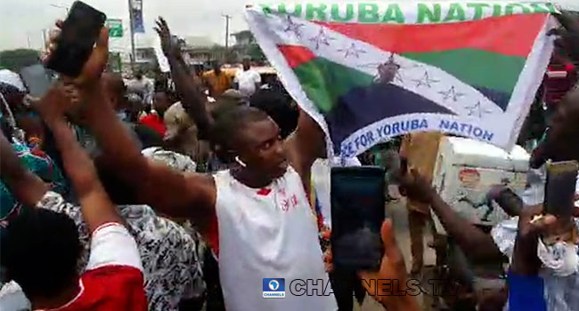 Despite Heavy Security Presence, Yoruba Nation Protesters Storm Freedom Park