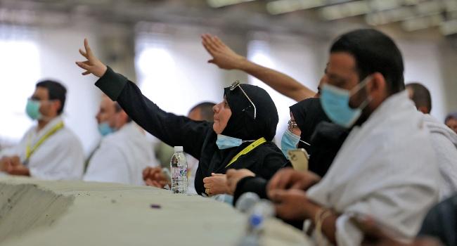 Pilgrims 'Stone The Devil' With Sanitised Pebbles In Hajj Ritual