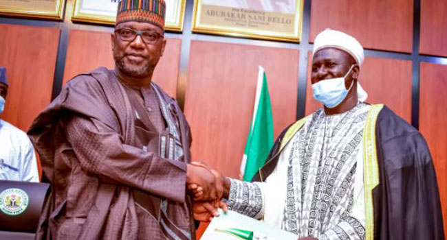 Governor Bello Swears In Niger State Acting Grand Khadi