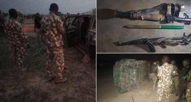 Troops Trail Terrorists, Kill Several Insurgents And Recover Arms