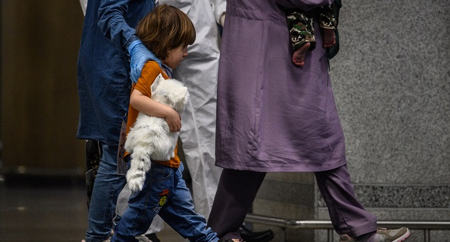 'Just The Clothes On Me': Afghans Escape To New Life
