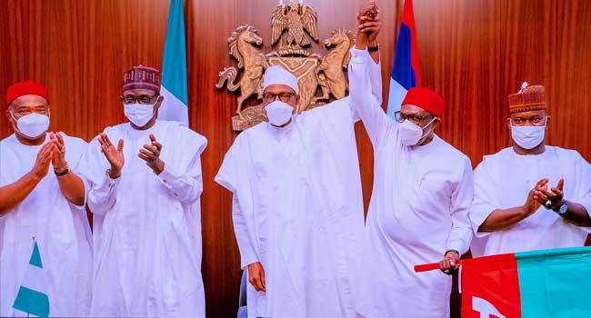 'I Am Anxious For Your Success': Buhari Endorses Uba For Anambra Election
