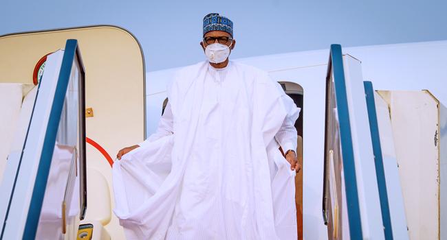 President Buhari Arrives Saudi Arabia For Future Investment Summit