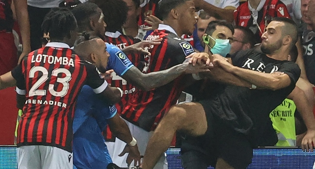 French Ligue 1 Match Abandoned Over Violent Clash