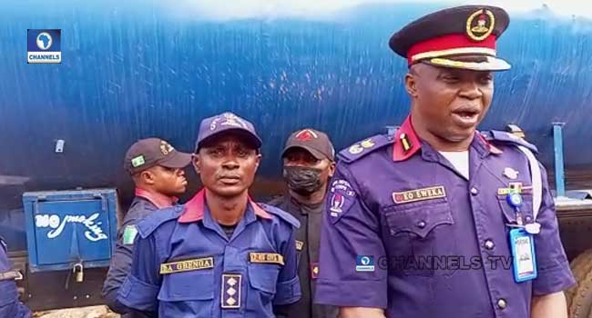Suspected Vandals Flee As Security Operatives Intercept Four Petrol Tankers In Lagos