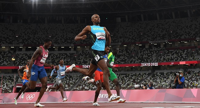Bahamas' Gardiner Wins Olympic Men's 400m Gold