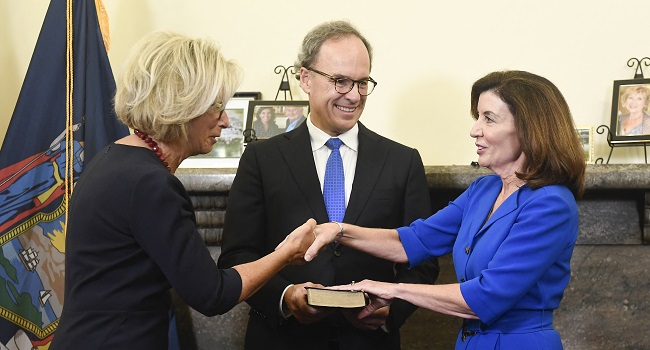 Kathy Hochul Sworn In As First Female Governor Of New York