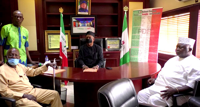Secondus Returns To Office As PDP National Chairman