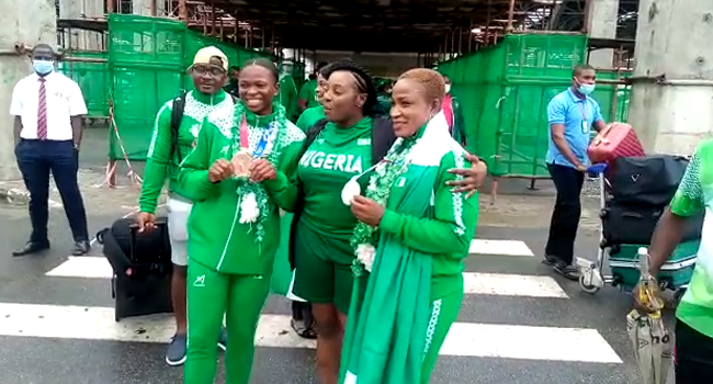 Team Nigeria Return To Abuja After Tokyo Olympics