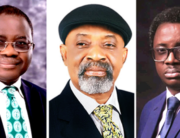 A photo combination of President of the Nigeria Medical Association, Innocent Ujah, Minister of Labour and Employment, Chris Ngige and President of the National Association of Resident Doctors, Uyilawa Okhuaihesuyi.