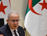 Algeria's Foreign Minister Ramtane Lamamra holds a press conference in the capital Algiers, on August 24, 2021. RYAD KRAMDI / AFP