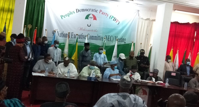 Secondus Absent As Akinwonmi Presides Over PDP NEC Meeting