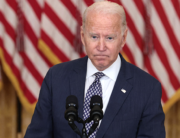 U.S. President Joe Biden gestures as delivers remarks on the U.S. military's ongoing evacuation efforts in Afghanistan from the East Room of the White House on August 20, 2021 in Washington, DC. Anna Moneymaker/Getty Images/AFP