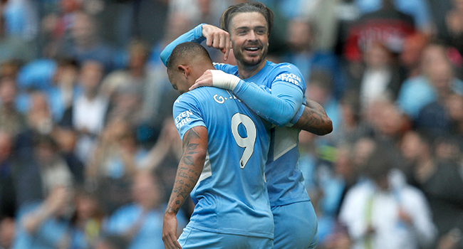 EPL: Grealish Bags First City Goal As Champions Cruise Against Norwich