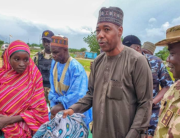 Governor Babagana Zulum received Chibok schoolgirl Hassana Adamu in Gwoza, on August 14, 2021.