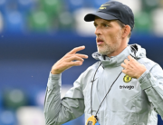 Chelsea's German head coach Thomas Tuchel takes a training session on the eve of the UEFA Super Cup football match between Chelsea and Villarreal at Windsor Park in Belfast, Northern Ireland on August 10, 2021. Paul ELLIS / AFP
