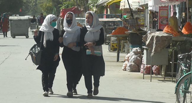 Afghan Girls Return To School After Taliban Takeover