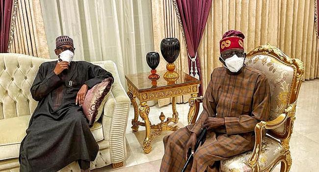 PHOTOS: Buhari, Tinubu Meet In London