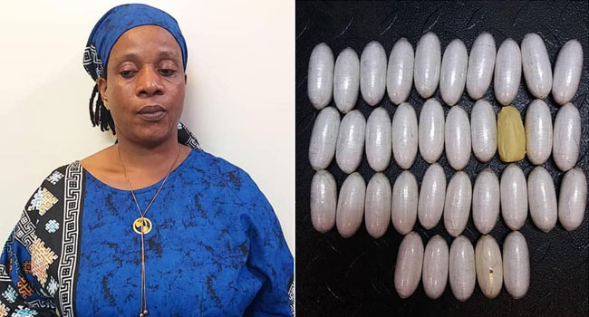 VIDEO: NDLEA Recovers 35 Wraps Of Cocaine From Lady's Underwear At Lagos Airport
