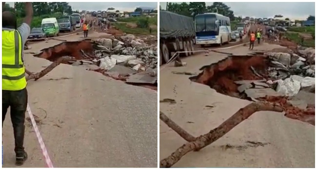 Section of Lokoja-Kabba Highway Caves In – FRSC