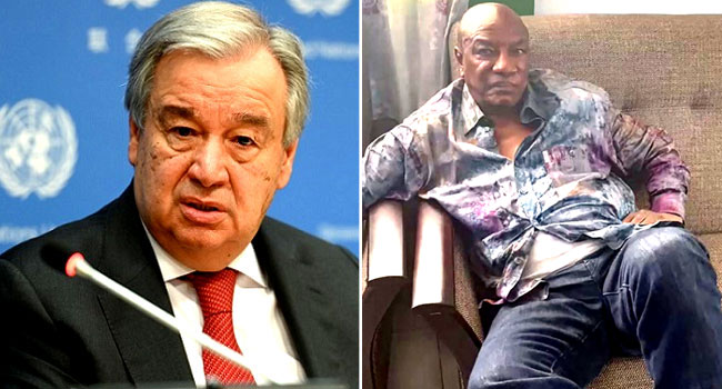 UN Chief Condemns Military 'Takeover' In Guinea, Demands President's Release