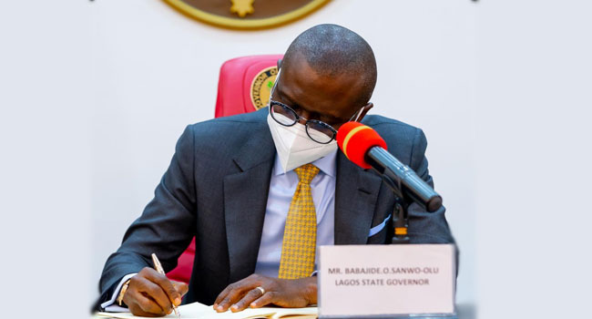 Sanwo-Olu Signs Bill Empowering Lagos Govt To Collect VAT Into Law
