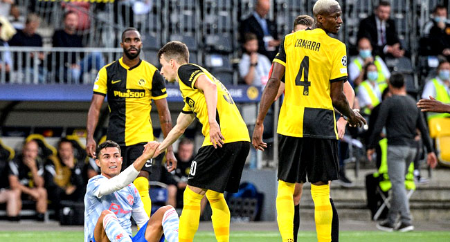 Young Boys Stun Man United In Champions League Clash