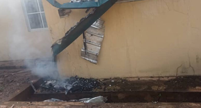 INEC Office Set Ablaze In Enugu