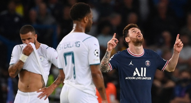 Messi Scores As PSG Beat Man City 2-0 In Champions League