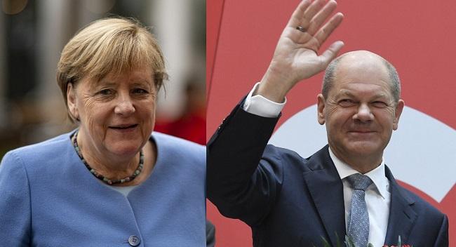 Merkel Congratulates Scholz On His Election Win