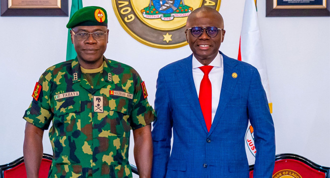 PHOTOS: Army Chief Visits Sanwo-Olu, Reaffirms Commitment To Securing Nigeria