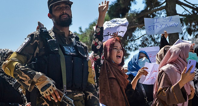 Taliban Fire Shots To Disperse Protest In Kabul