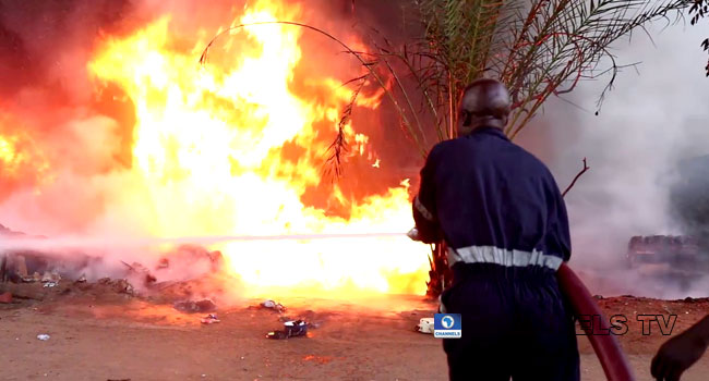 VIDEO: Properties, Businesses Destroyed As Tanker Explodes In Yola